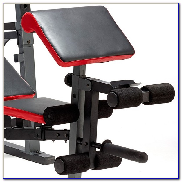 Competitor Weight Bench With Lat Tower
