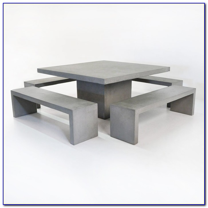 Concrete Table And Benches Durban