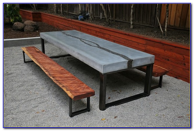 Concrete Tables And Benches San Antonio