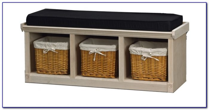 Cubby Storage Bench With Cushion