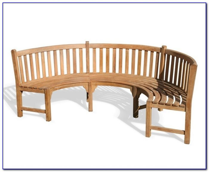 Curved Teak Benches For Gardens