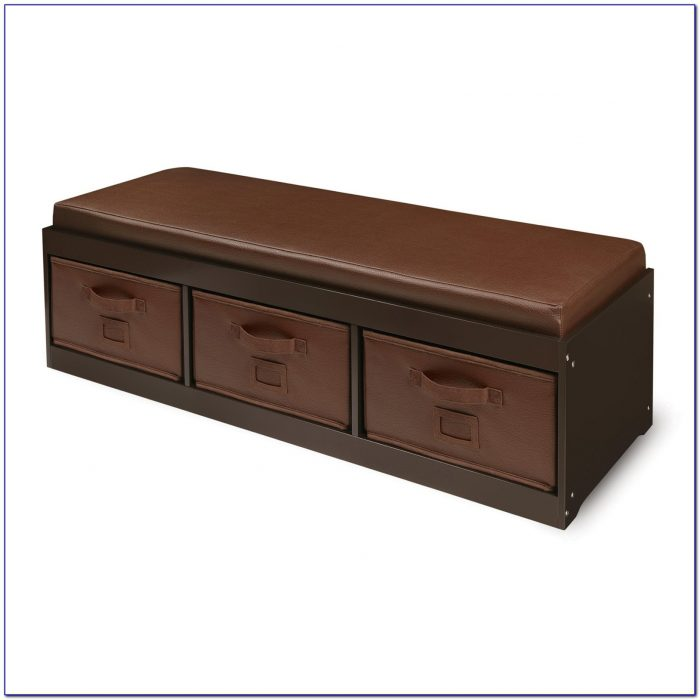 Cushioned Bench With Shoe Storage