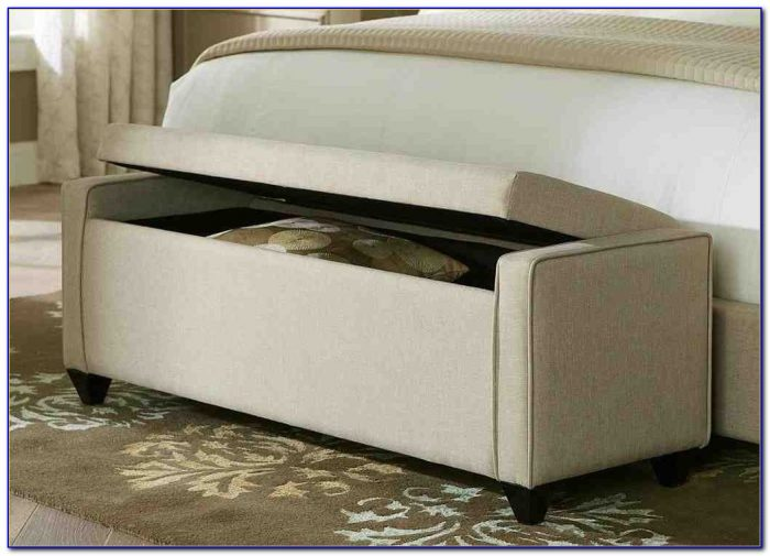 Cushioned Bench With Storage