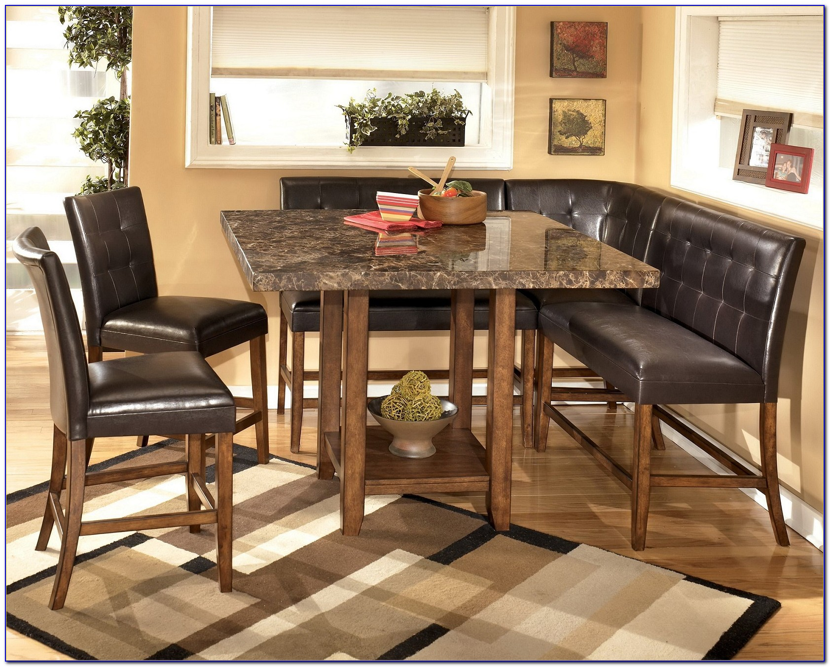 Dining Table With Corner Bench And Chairs