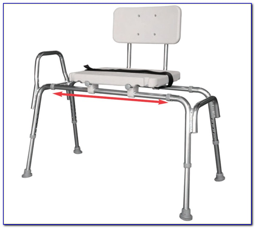 Sliding Shower Chair Tub Mounted Bath Transfer Bench With