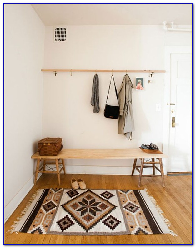 Entryway Coat Rack And Bench Diy
