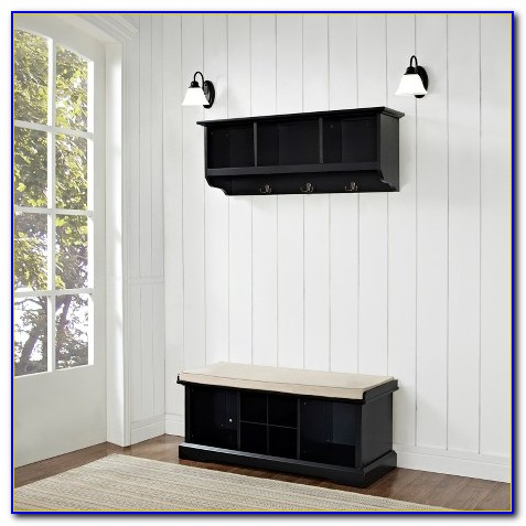 Entryway & Home Cubbies Bench And Shelf Set