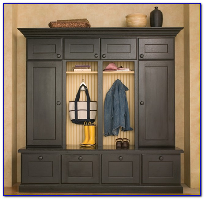 Mudroom Storage Lockers Canada : Entryway storage lockers with bench home design
