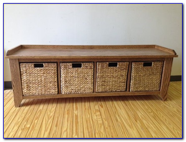 Entryway Storage Bench With Cubby