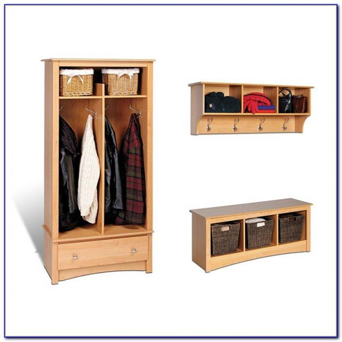Entryway Storage Coat Rack Bench
