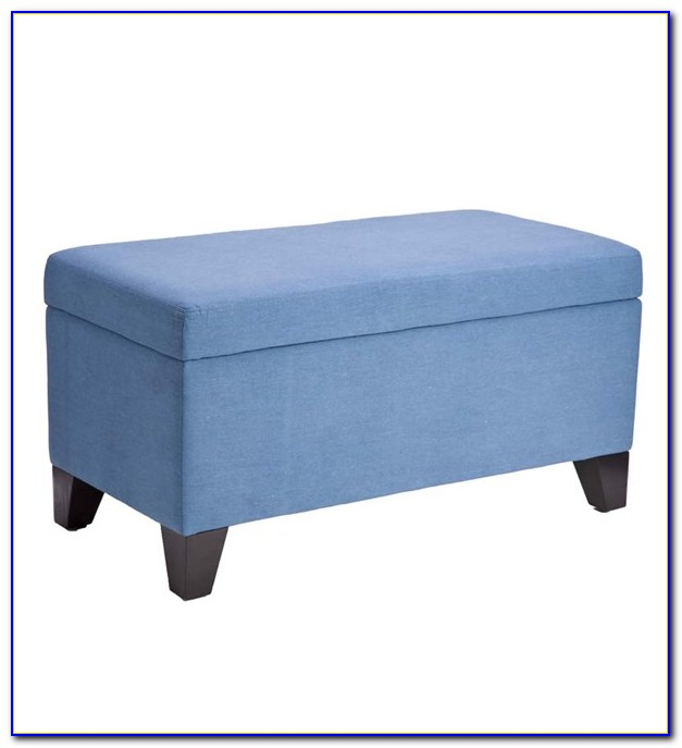 Fabric Bench With Storage
