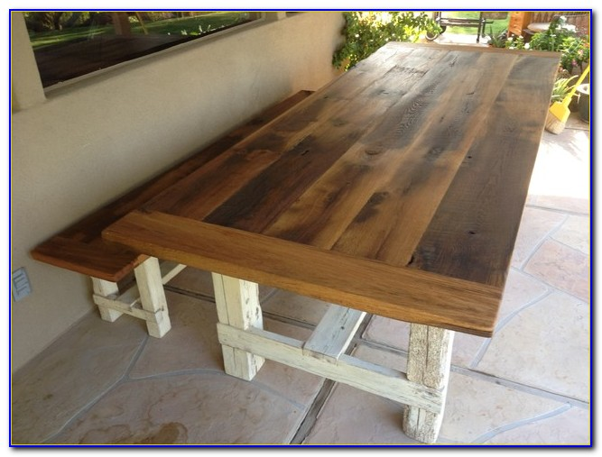 Farmhouse Dining Table With Bench Seating