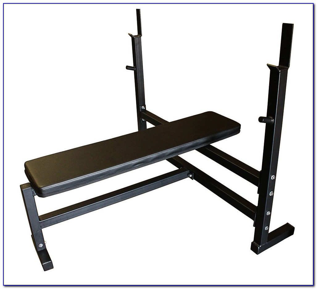 Folding Weight Bench With Weight Set
