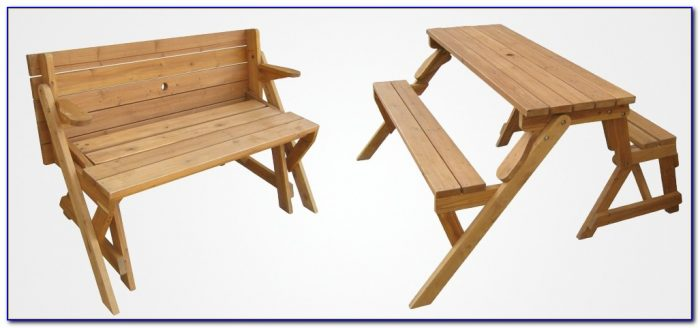 Garden Bench Converts To Table