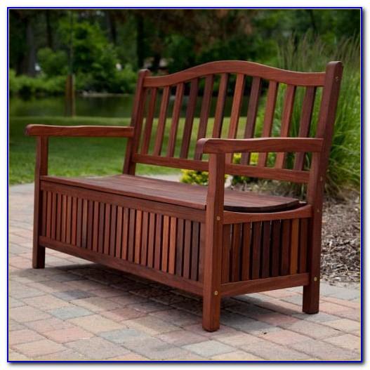 Garden Bench With Storage Underneath