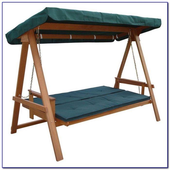 Garden Swing Seat Wooden Canopy