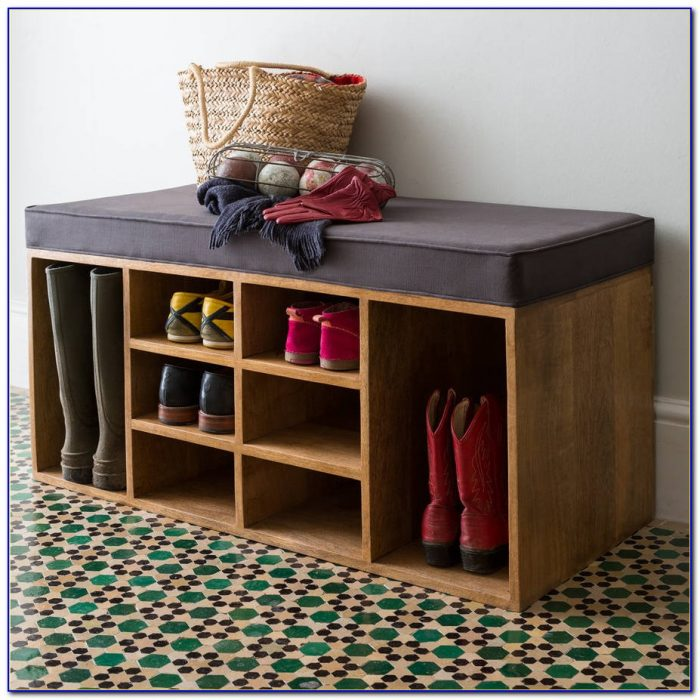 Hallway Bench With Shoe Rack