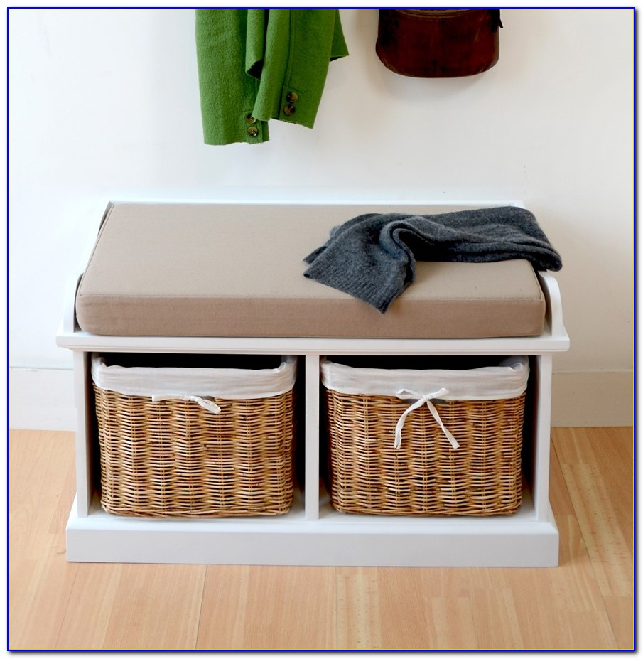 Hallway Bench With Shoe Storage And Coat Rack