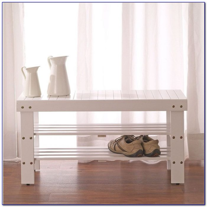 Hokku Designs Crest Solid Wood Entryway Storage Bench