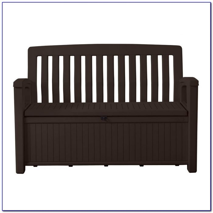 Keter Eden Storage Bench Brown