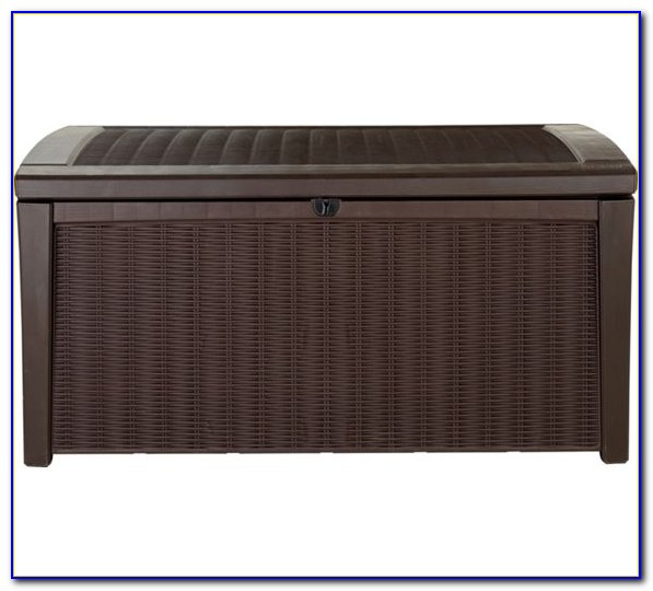 Keter Garden Storage Bench Brown