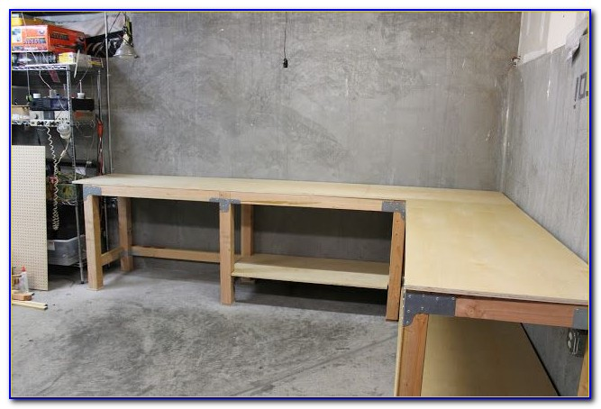 How To Build An L Shaped Workbench Bench Home Design
