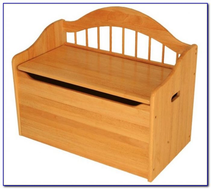 Large Wooden Toy Chest Bench