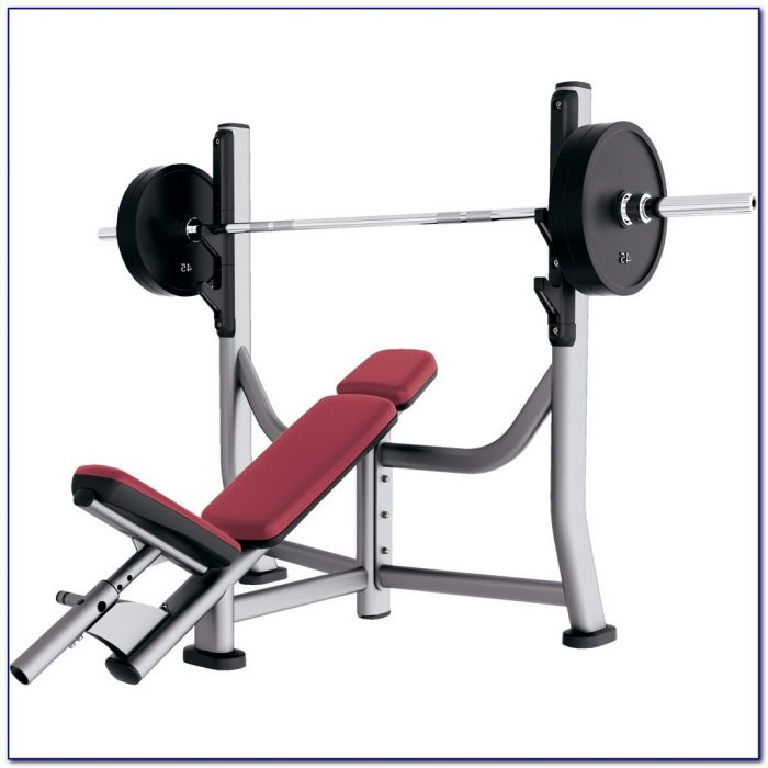 Life Fitness Olympic Bench Weight Storage