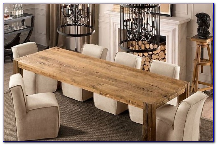 Long Skinny Dining Table With Bench
