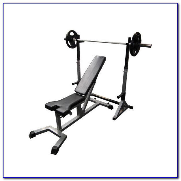 Marcy Diamond Elite Olympic Weight Bench With Squat Rack