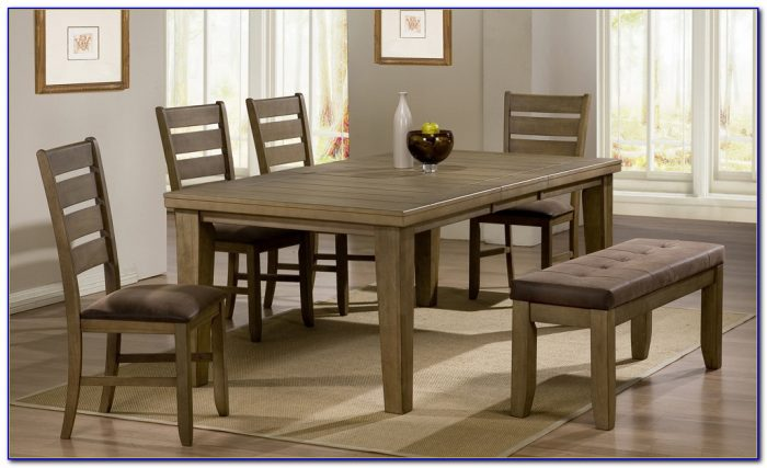 Modern Bench Dining Room Set