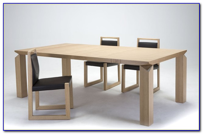 Modern Bench Style Dining Table