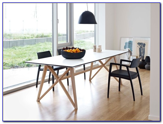 Modern Wood Dining Table With Bench