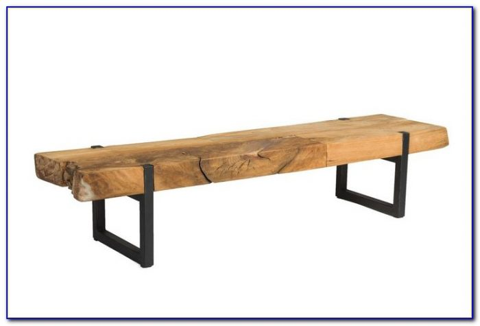 Narrow Coffee Table Bench Style