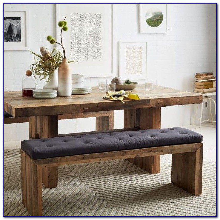 Narrow Dining Table With Bench Seats