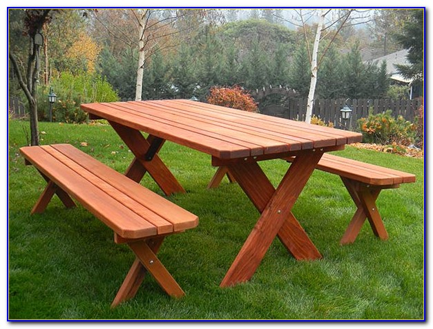 Octagon Picnic Table Plans With Detached Benches