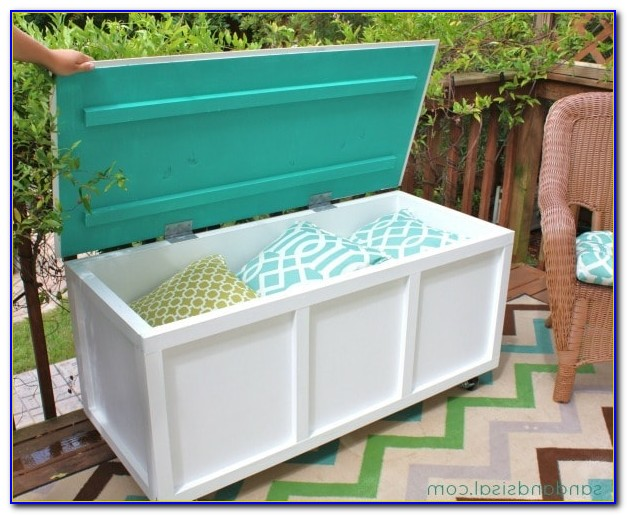 Outdoor Bench With Storage Waterproof