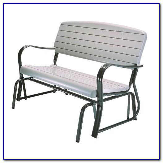 Outdoor Metal Glider Bench