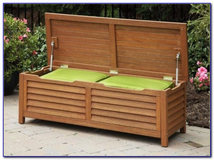 Outdoor Storage Bench Seat Wood