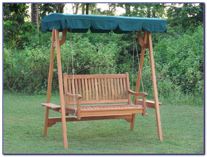 Outdoor Swing Bench With Canopy