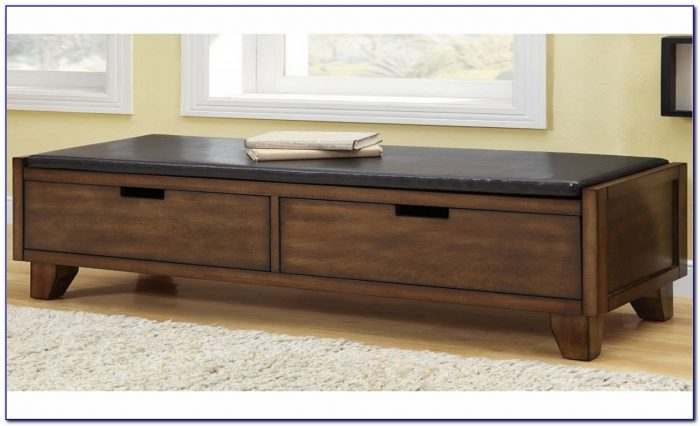 Padded Bench With Shoe Storage