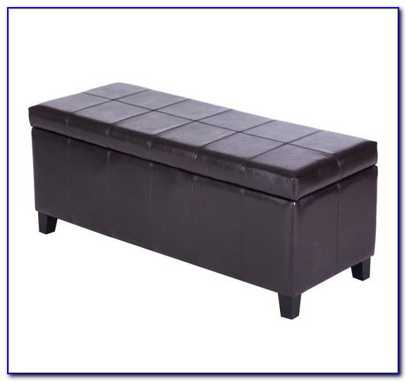 Padded Bench With Storage Baskets