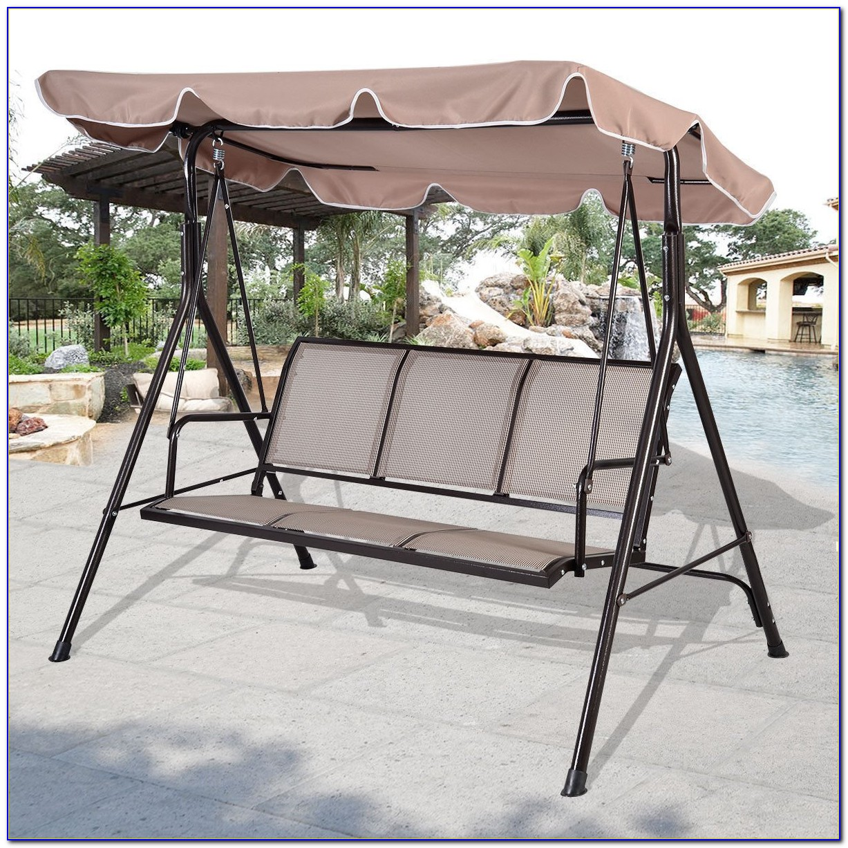 Patio Swing With Canopy Costco