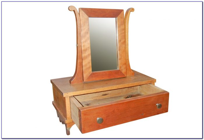 Powell Antique Black Vanity With Mirror And Bench