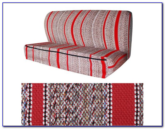 Red Saddle Blanket Bench Seat Cover