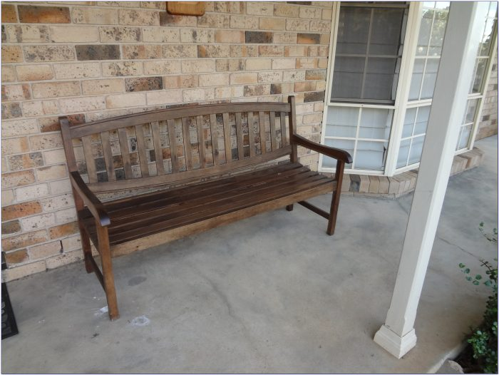 Rustic Bench For Front Porch