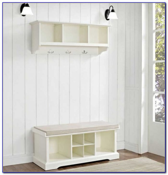 Samantha Entryway Bench And Shelf Set