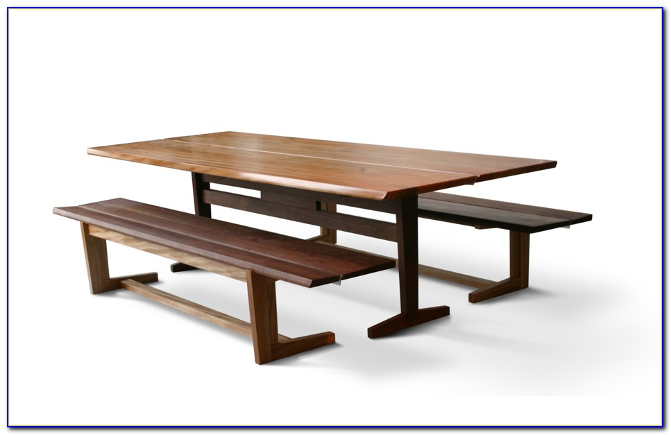 Sauder Beginnings Trestle Table With Benches
