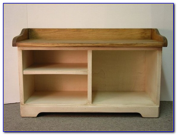 Shoe Cubby Storage Bench