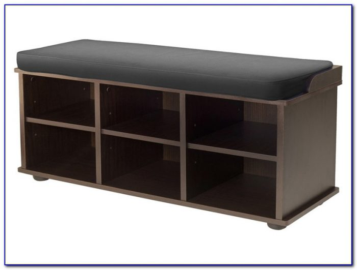 Shoe storage bench with padded seat and drawer bench Shoe storage bench ikea